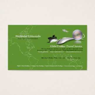 Ship Plane Train Travel Agency Business Card