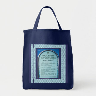 Ship Pool Rules Grocery Tote Bag