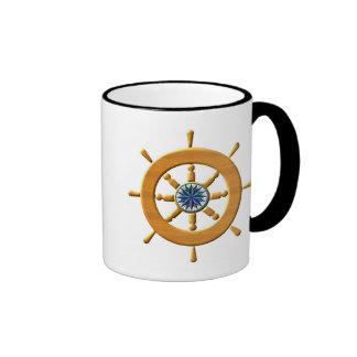 Ship s Wheel Coffee Mugs