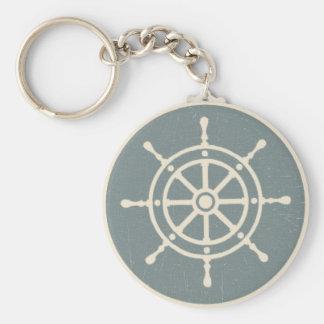 Ship s Wheel Keychain