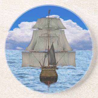 Ship sailing drink coaster