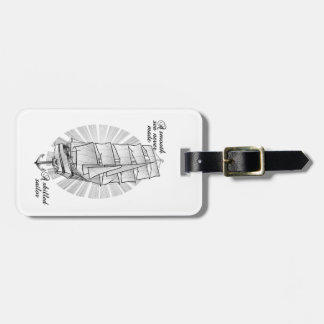 Ship Sailors Tattoo Illustration Bag Tag
