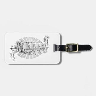Ship Sailors Tattoo Illustration Luggage Tag