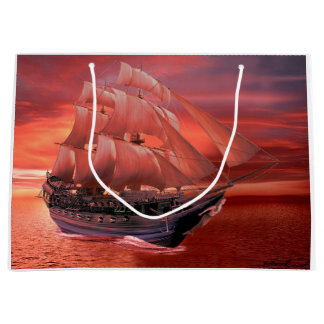 SHIP SAILS AT SUNSET LARGE GIFT BAG