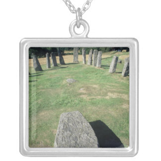 Ship setting silver plated necklace