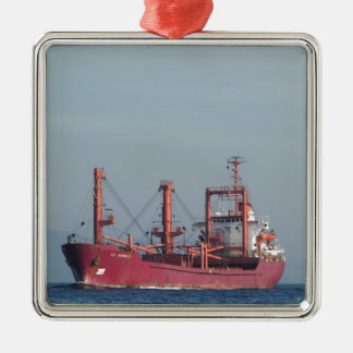 Ship TK VENICE Silver-Colored Square Decoration