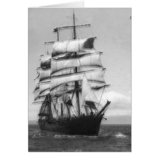 Ship Underway Greeting Card