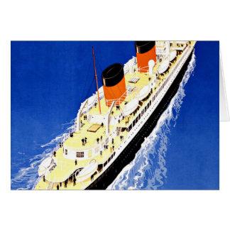 Ship Ville D'Alger Paris Vintage Travel Greeting Card