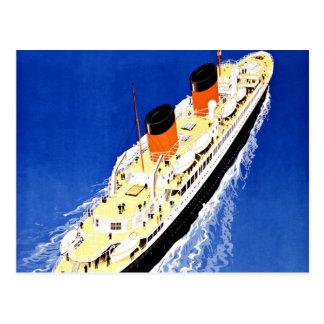 Ship Ville D'Alger Paris Vintage Travel Postcard