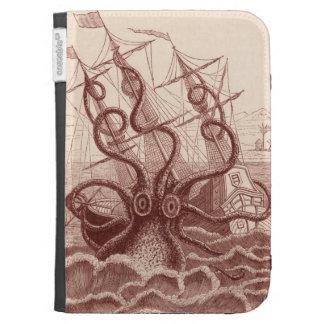 ship vs. octopus kindle folio cases