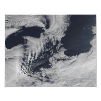 Ship-wave-shaped clouds in the South Indian Oce Art Photo