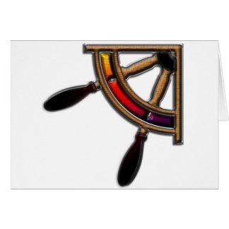Ship Wheel Art Greeting Card