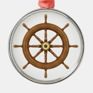 ship wheel inspired design christmas ornament