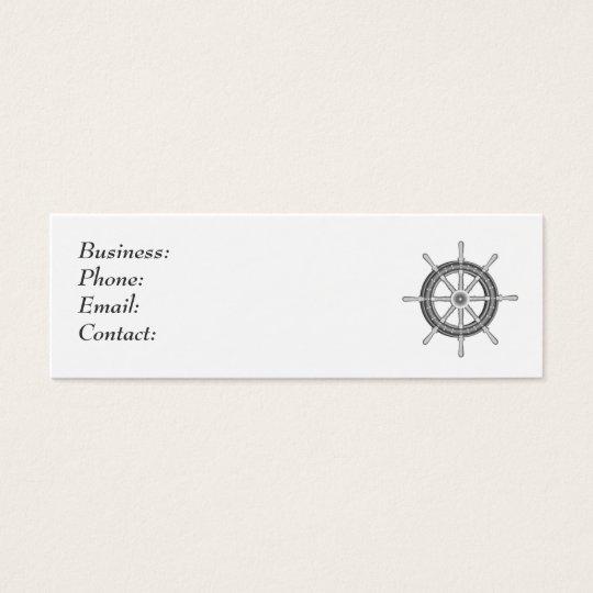 Ship Wheel Mini Business Card