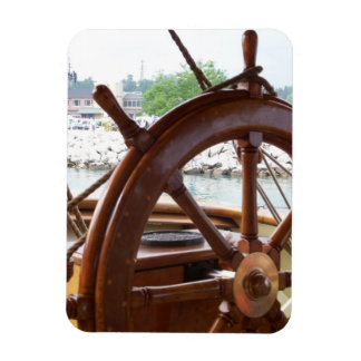 Ship Wheel Premium Magnet