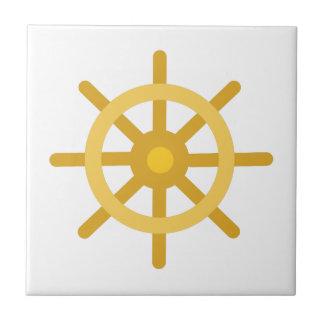 Ship Wheel Small Square Tile