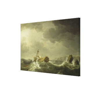 Ship Wrecked on a Rocky Coast, c.1747-50 (oil on c Gallery Wrap Canvas