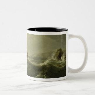 Ship Wrecked on a Rocky Coast, c.1747-50 (oil on c Mug