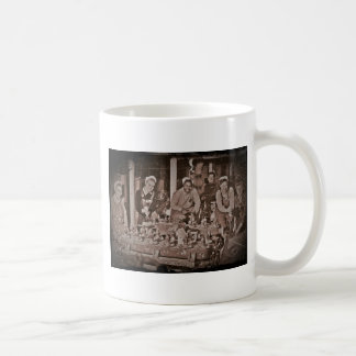 Shipfitters Working on Sub WWII. Classic White Coffee Mug