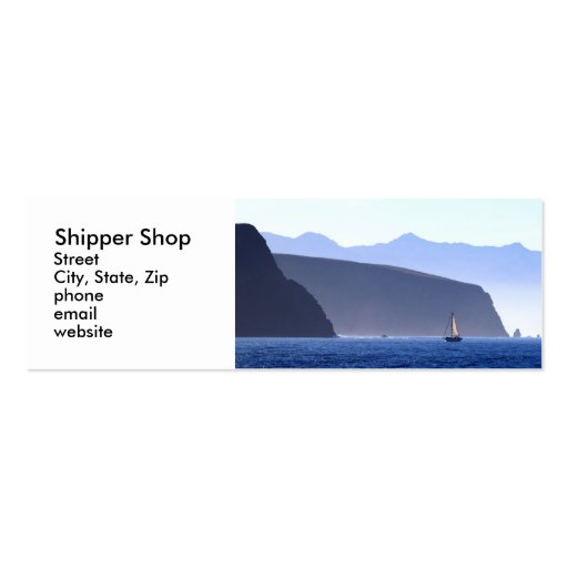 Shipper Shop Double-Sided Mini Business Cards (Pack Of 20) : Zazzle