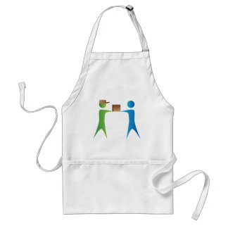 Shipping Box Delivery Stick Figure People Standard Apron