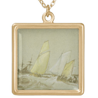 Shipping, c.1828-30 (pen, brush & brown ink, bodyc personalized necklace