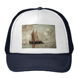 Shipping in Calm Waters of an Estuary Trucker Hat