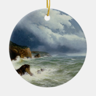 Shipping in Open Seas, 1882 (oil on canvas) Christmas Ornament