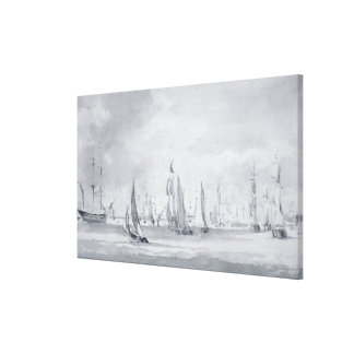 Shipping in the Thames Canvas Print