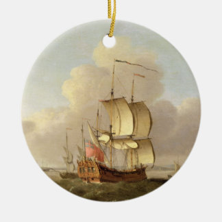 Shipping in the Thames Estuary, c.1761-66 (oil on Christmas Ornament