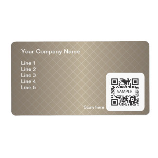 Shipping Label Template Generic Brown Frame