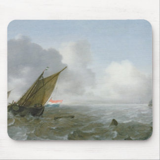 Shipping Offshore in a breeze, 17th century Mousepad