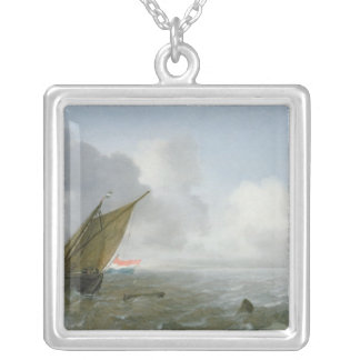 Shipping Offshore in a breeze, 17th century Silver Plated Necklace