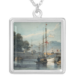 Shipping on a Chinese River Silver Plated Necklace