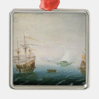 Shipping on Stormy Seas Christmas Ornament