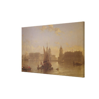 Shipping on the Thames at Greenwich Canvas Print