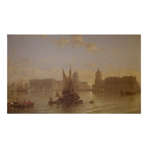 Shipping on the Thames at Greenwich Print