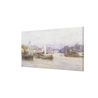 Shipping on the Thames Canvas Print