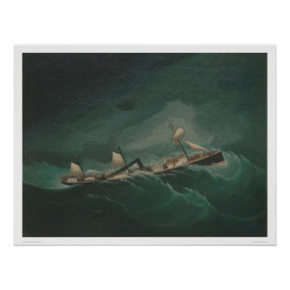 Shipping Vessel in Storm 1261 Posters