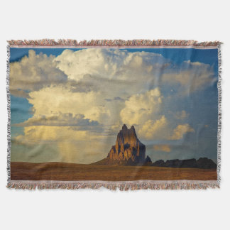 Shiprock vs. Thunderhead Throw Blanket