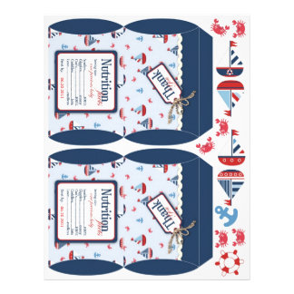 Ships Ahoy! Mini Puff Box Template 21.5 Cm X 28 Cm Flyer