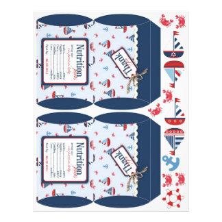 Ships Ahoy! Mini Puff Box Template 21.5 Cm X 28 Cm Flyer