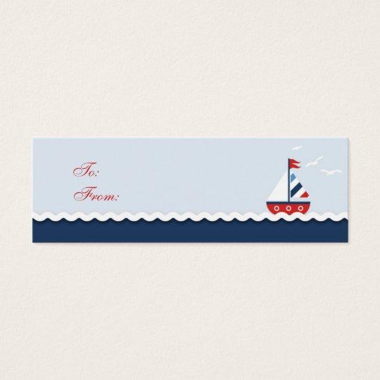 Ships Ahoy! Skinny Gift Tag