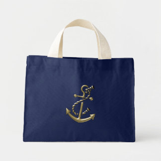 Ship's Anchor Nautical Marine-Themed Gift Mini Tote Bag