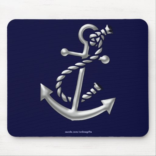 Ship's Anchor Nautical Marine-Themed Gift Mousepad