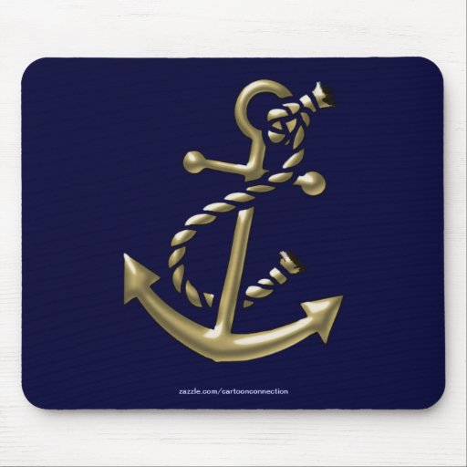 Ship's Anchor Nautical Marine-Themed Gift Mouse Pad
