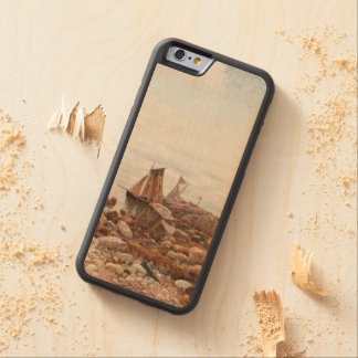 Ships Anchored in a Swedish Fjord Maple iPhone 6 Bumper Case