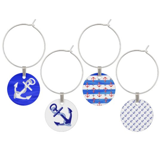 Ship's Anchors Wine Charms