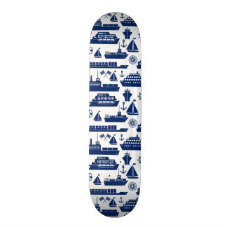 Ships And Boats At Sea Pattern 18.1 Cm Old School Skateboard Deck