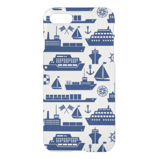 Ships And Boats At Sea Pattern iPhone 8/7 Case